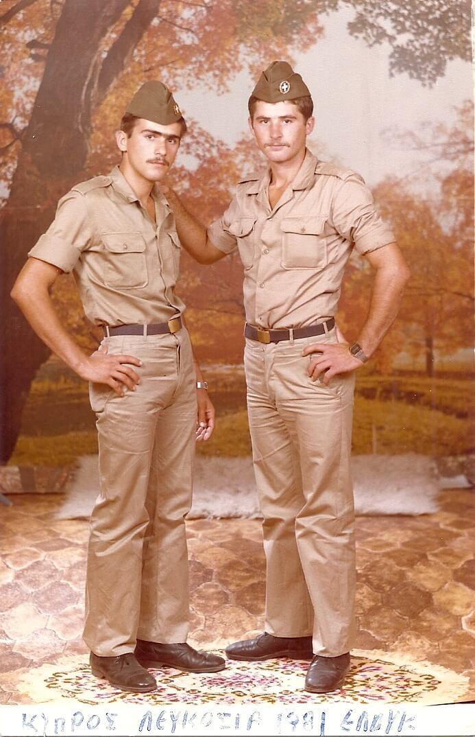 Θανάσης και Λάζαρος Σβώλου  όταν υπηρετούσαν στην Κύπρο